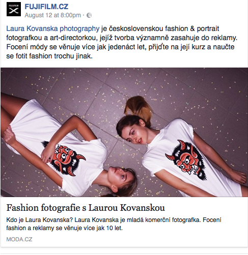 MODA.CZ released the interview with me, thank you very much!
