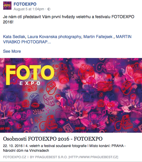 FOTOEXPO 2016 is coming with great names !