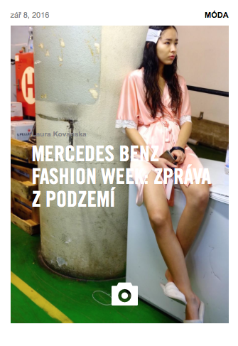 VICE CZ / SK - backstage photos from Mercedes Benz  Prague Fashion Week
